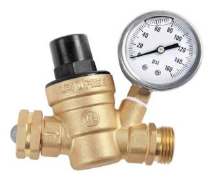 What should the water pressure be in an RV?