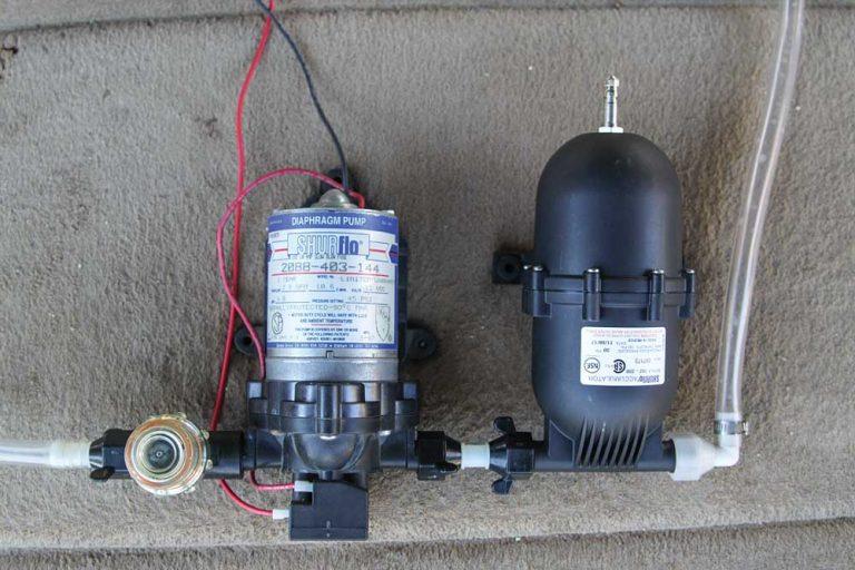 RV Water Pump and Accumulator Installation