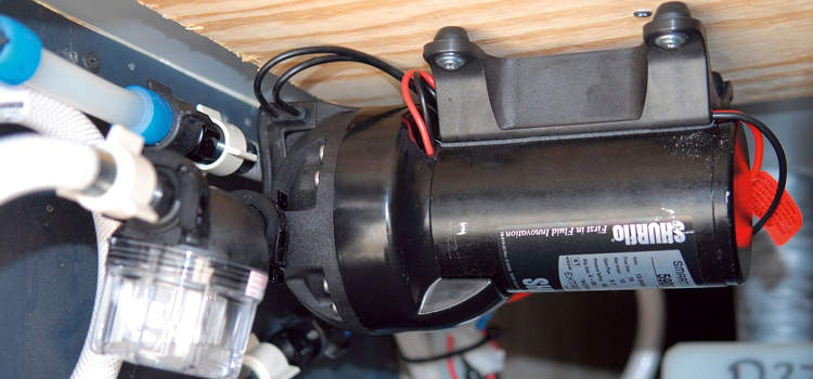 Where to attach an RV water pump?