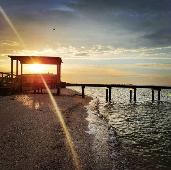Free Camping at Magnolia Beach County Park in Port Lavaca, Texas