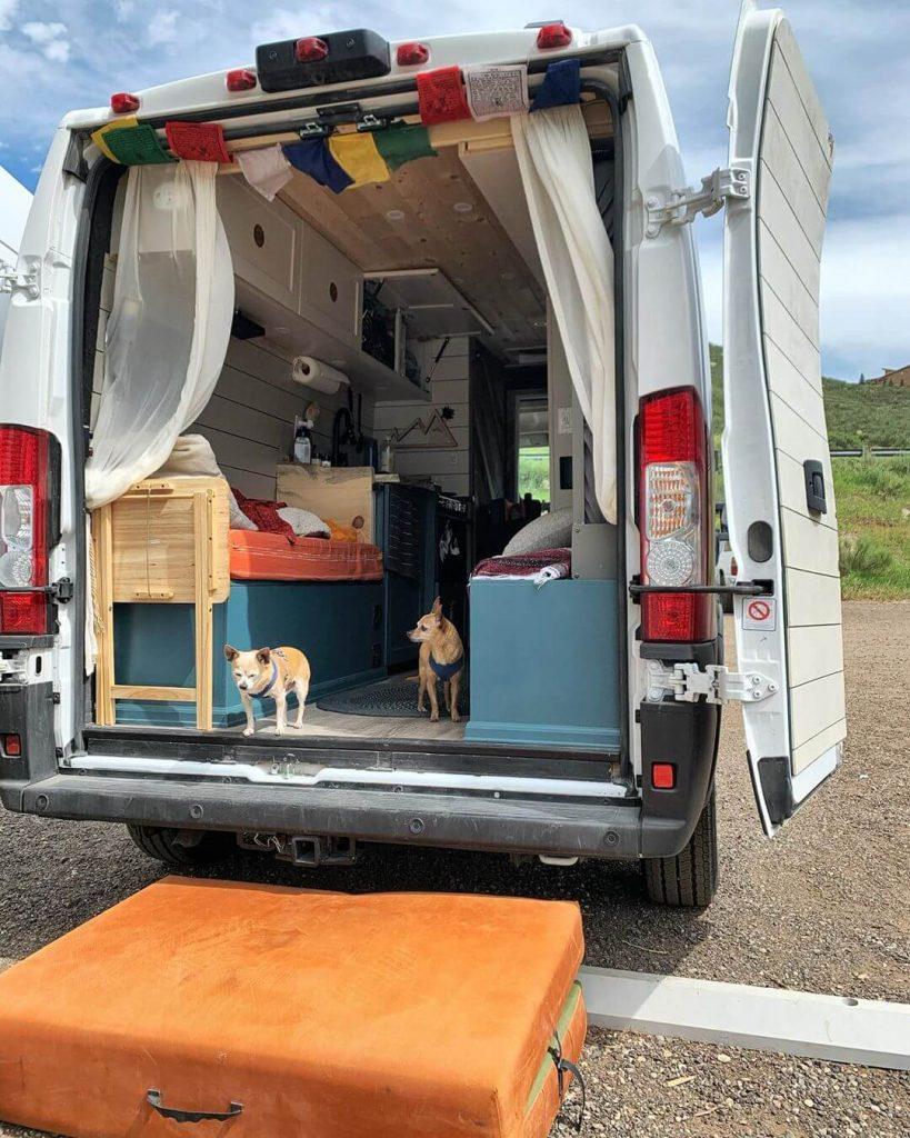 custom murphy bed design in a diy campervan conversion build