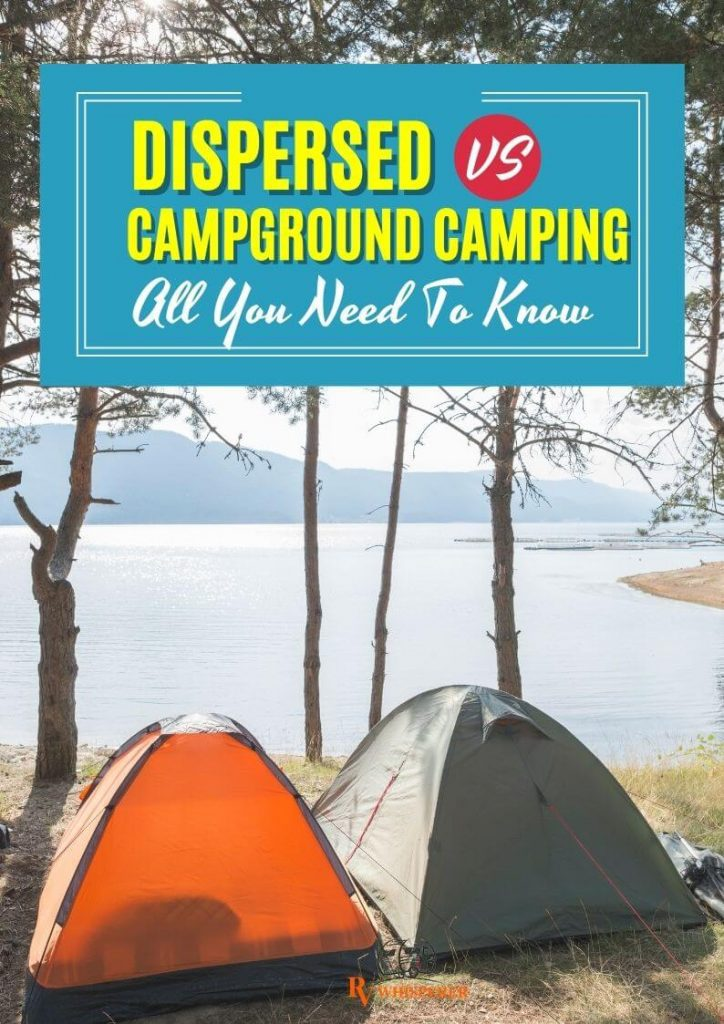 What is the difference between dispersed camping and normal camping?