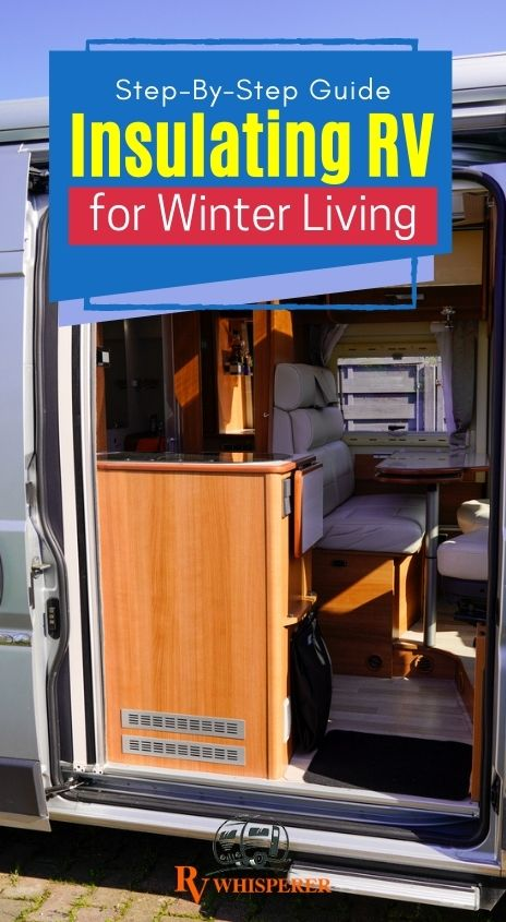 Inside of an RV getting ready for winter prepping