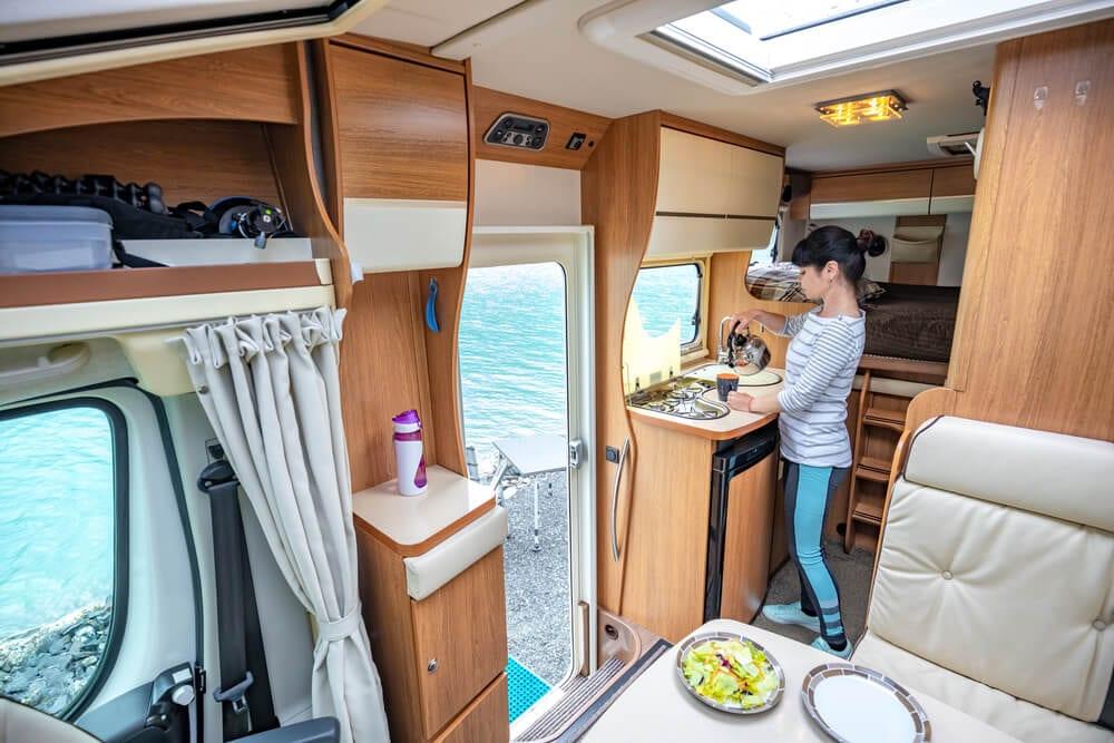Full time living family RVing in family camper motorhome