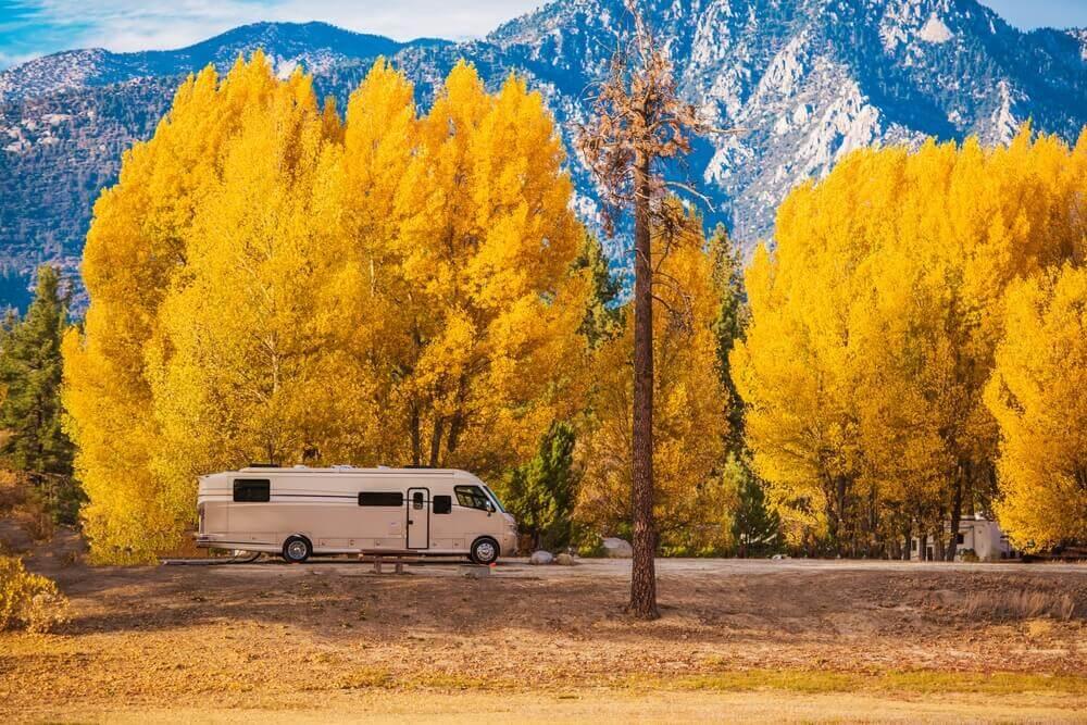 A camper RV in California