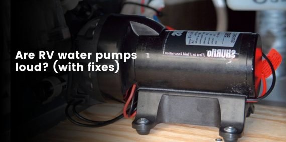 How to quieten rv water pumps?